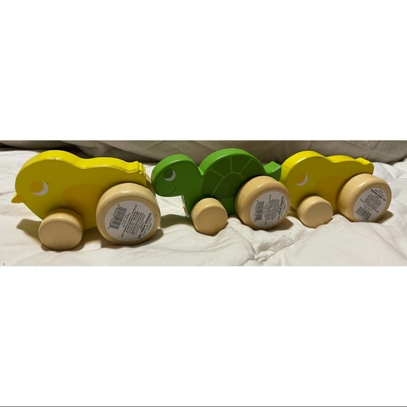 3 Piece Wooden Push Cars